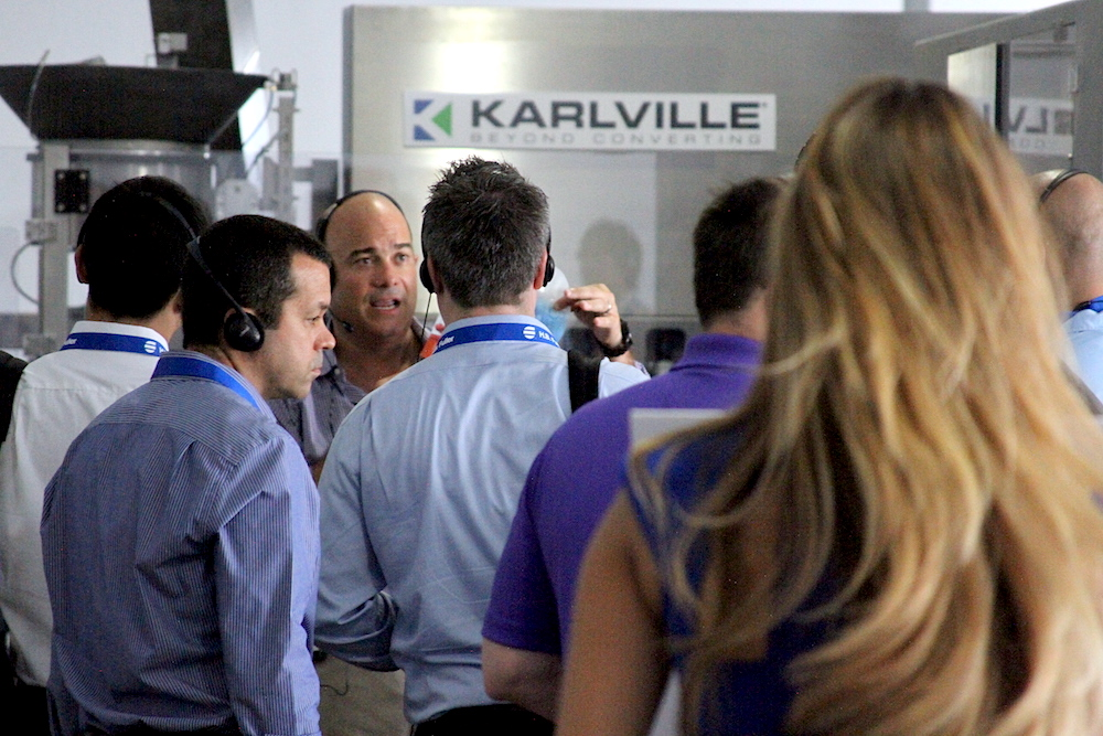 Karlville VP Raul Matos showing off a new product