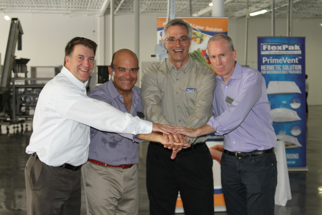 karlville and flexpak laser partnership team