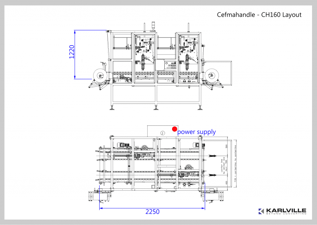 CEFMA - Karlville: CH160 Adhesive Application Machine Layout
