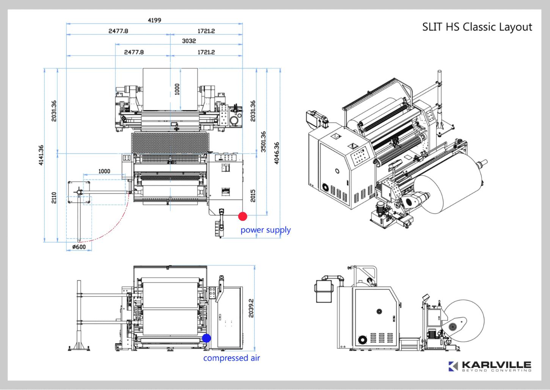 slit hs pro - slitter machine for shrink sleeves